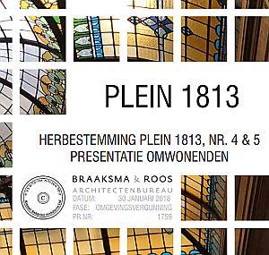 Presentatie van de bewonersavond Plein 1813 4-5